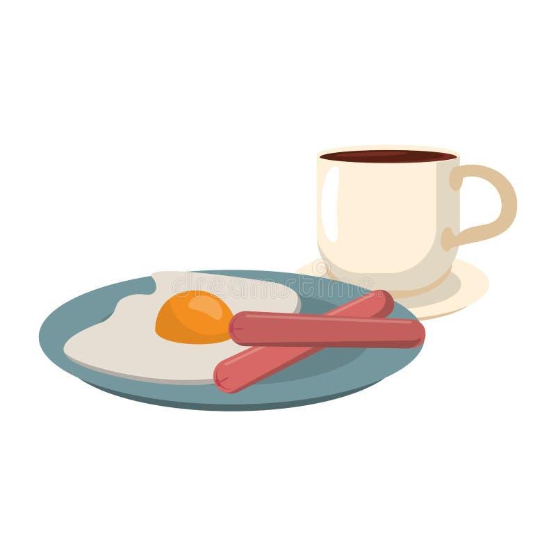 Ameryka?ski ?niadaniowy jedzenie ilustracji