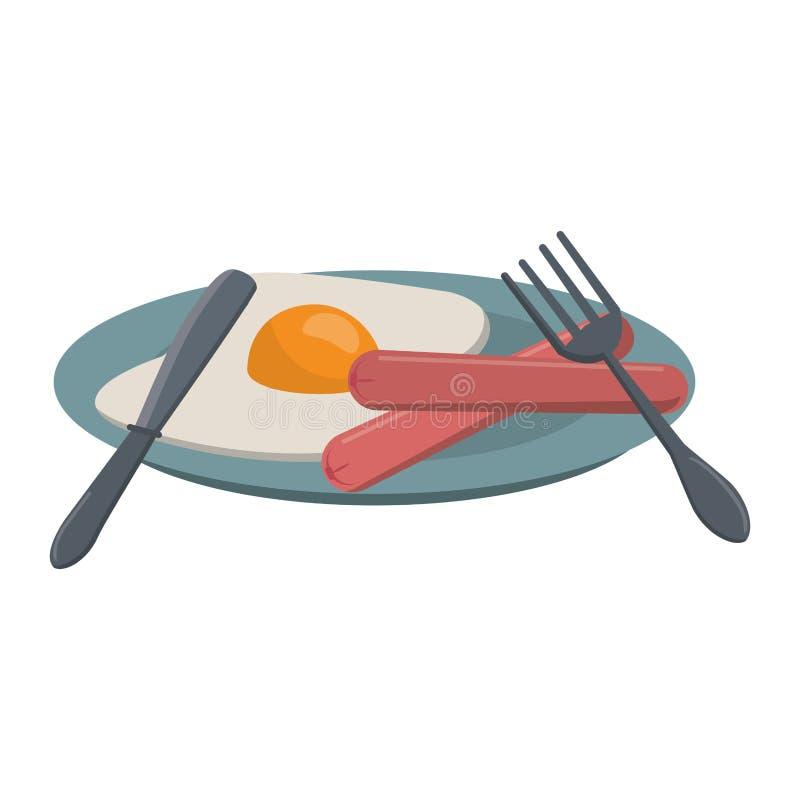 Ameryka?ski ?niadaniowy jedzenie royalty ilustracja