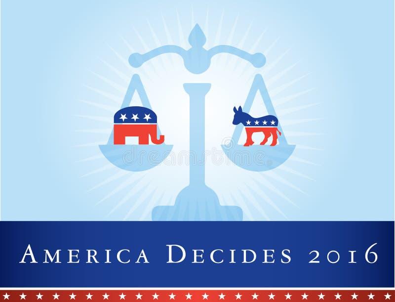 Ameryka 2016 wyborów obraz royalty free