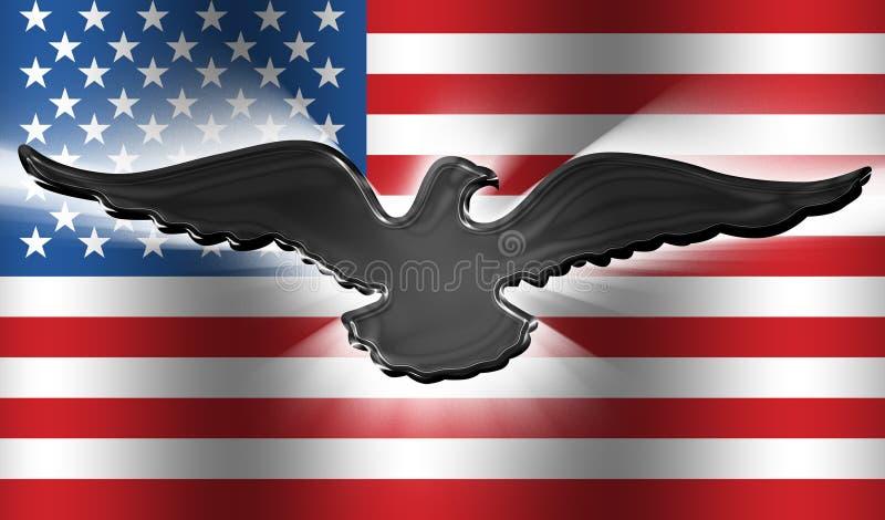 amerykanów 3 orła flagę royalty ilustracja