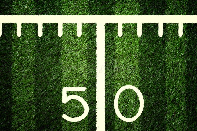 50 amerykan zbliżenia pola futbolu linia jard obraz royalty free