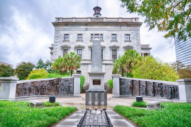 Amerykanin Afrykańskiego Pochodzenia historii zabytek ziemie Południowa Karolina Capitol fotografia royalty free