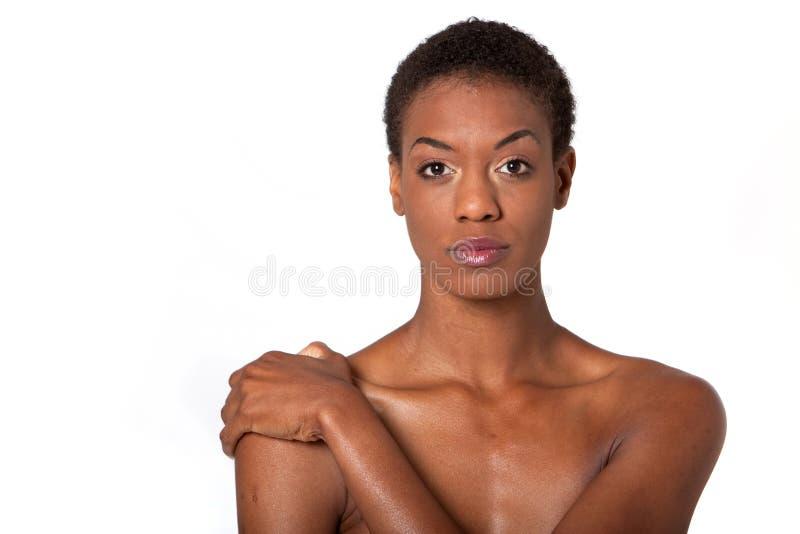 amerykanin afrykańskiego pochodzenia ładna kobieta zdjęcie stock