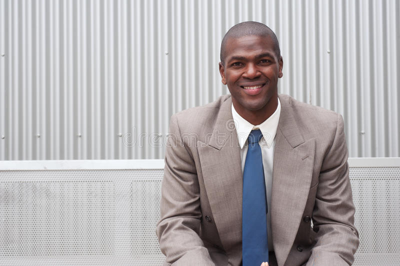 amerykanin afrykańskiego pochodzenia biznesmena portret zdjęcia stock
