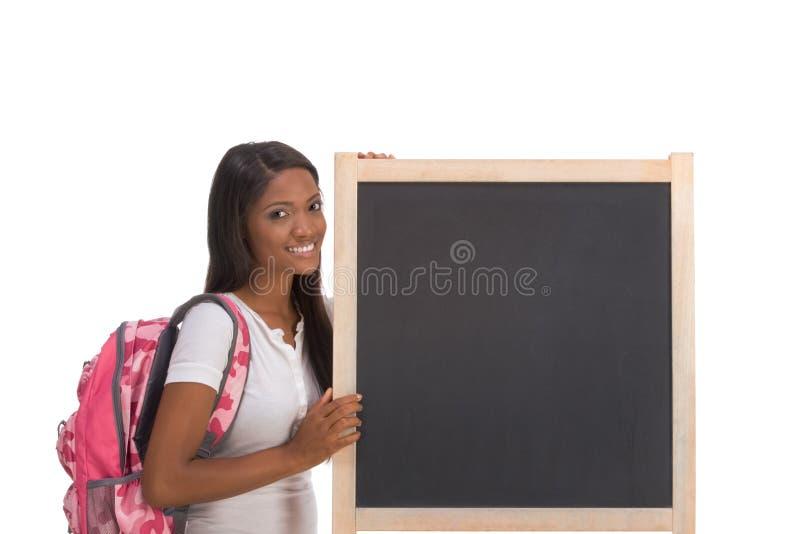 amerykanin afrykańskiego pochodzenia blackboard student collegu obrazy royalty free