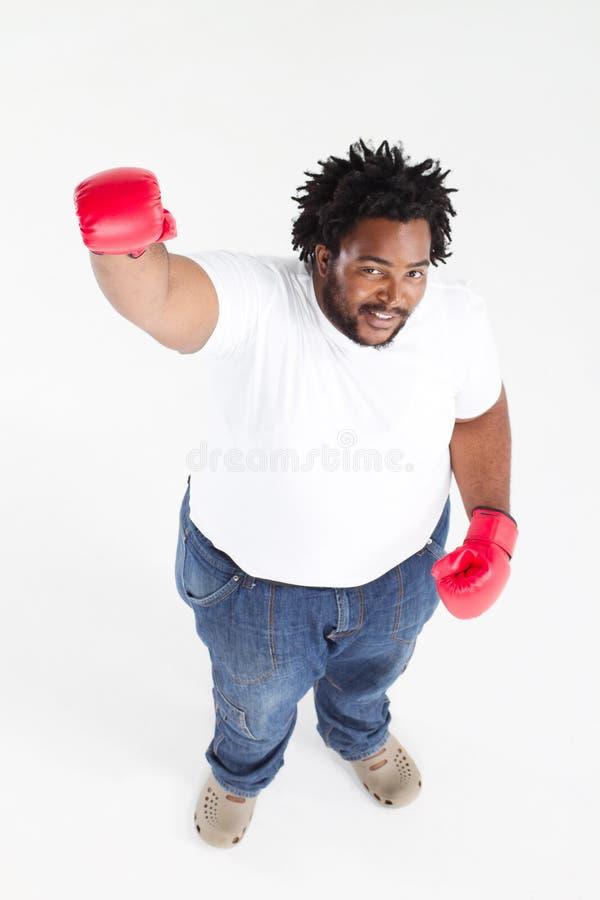 amerykanin afrykańskiego pochodzenia boks obraz royalty free