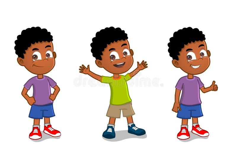 Amerykanin Afrykańskiego Pochodzenia chłopiec royalty ilustracja