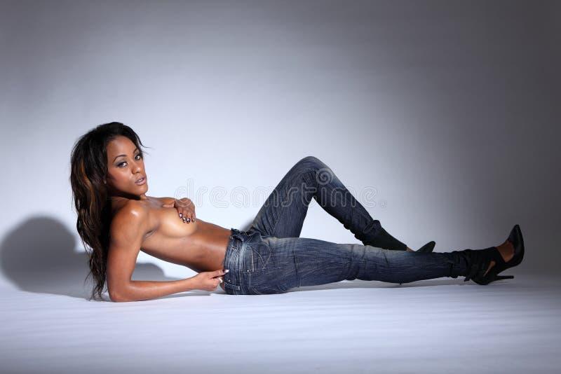African American nagie modele