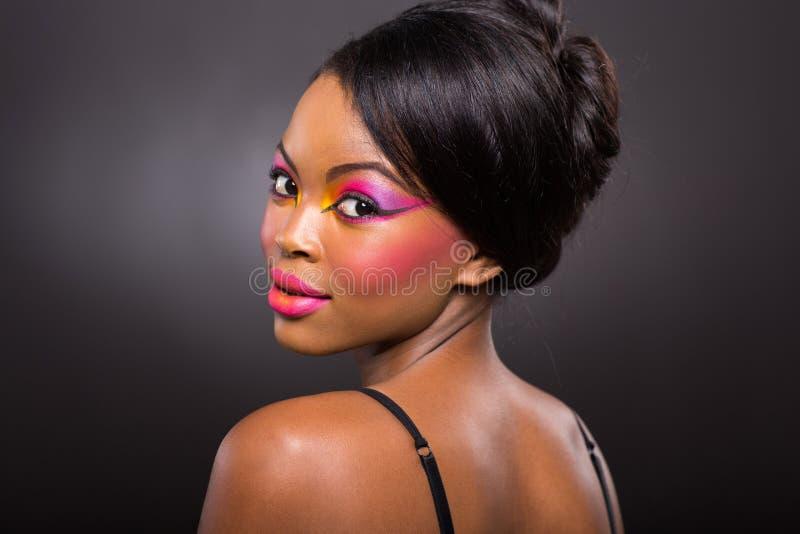 Amerykanin Afrykańskiego Pochodzenia dziewczyna fotografia stock
