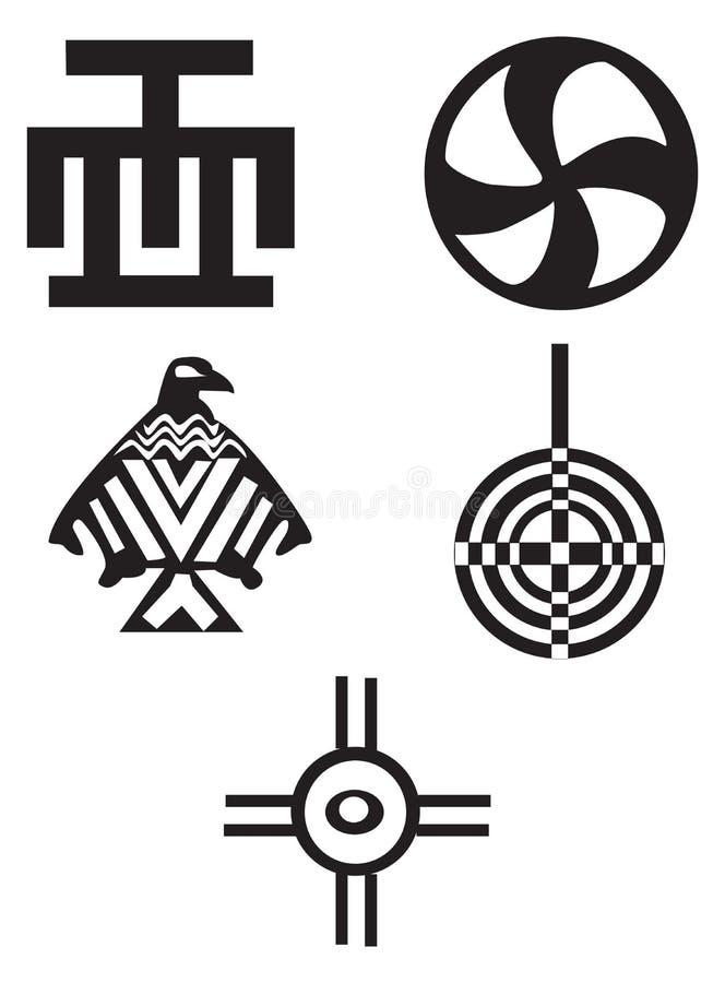 amerykanin afrykańskiego pochodzenia hindusów symbole royalty ilustracja