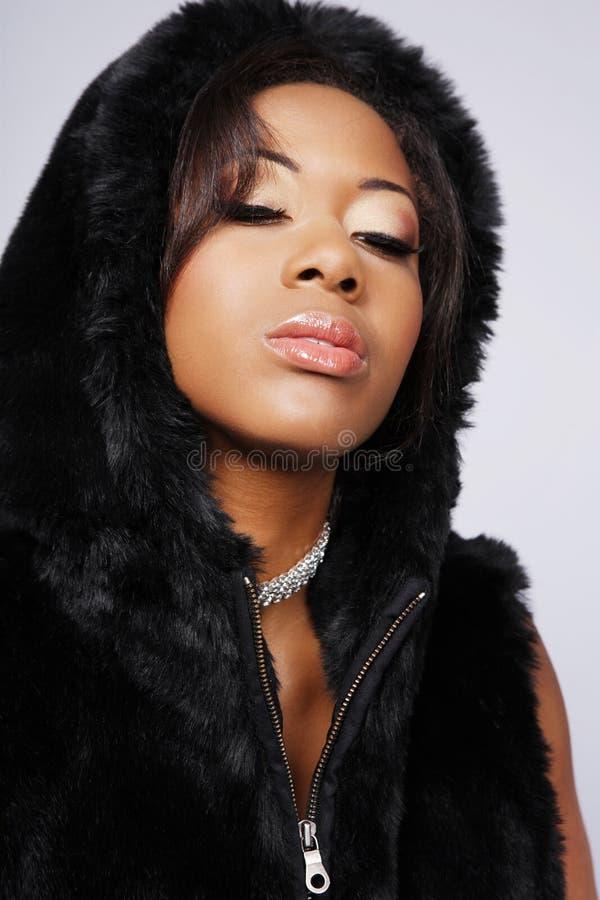 amerykanin afrykańskiego pochodzenia kobieta fotografia stock