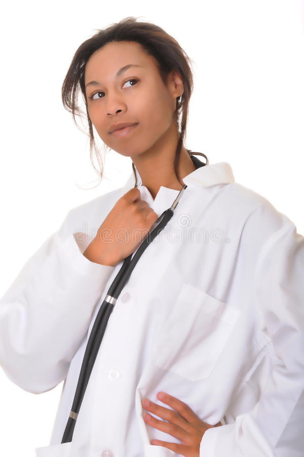 amerykanin afrykańskiego pochodzenia lekarki pielęgniarka zdjęcia stock