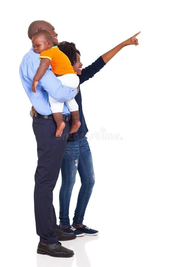 Afrykański rodziny wskazywać fotografia stock