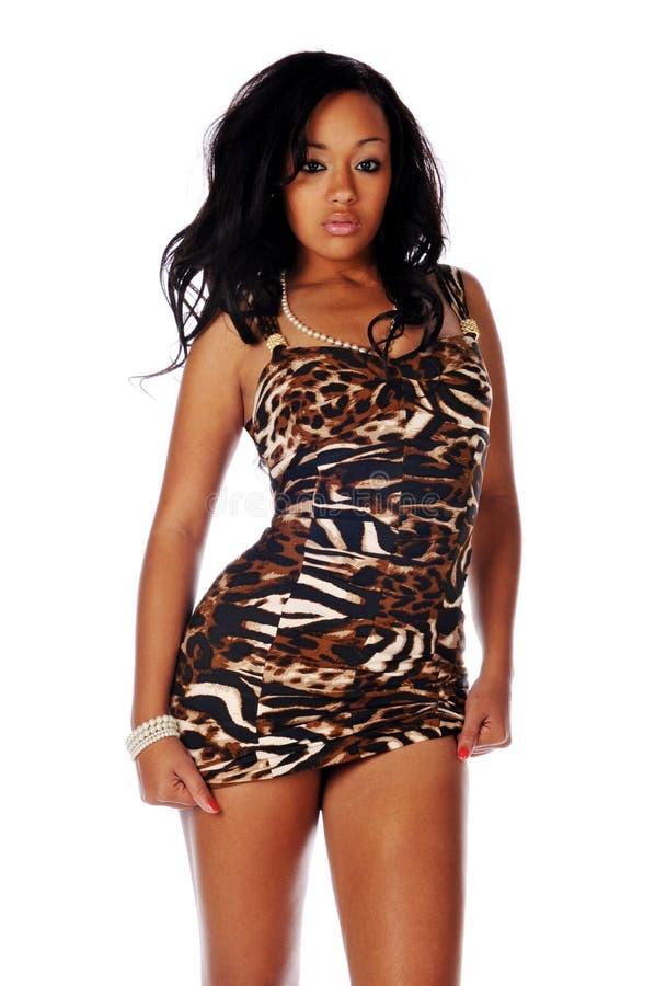 amerykanin afrykańskiego pochodzenia mody kobiety potomstwa zdjęcia stock