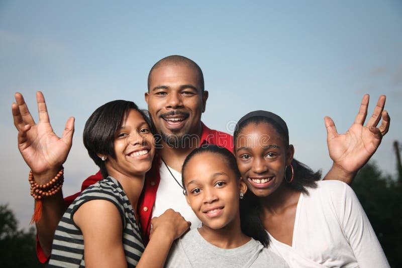 amerykanin afrykańskiego pochodzenia rodzina zdjęcie royalty free