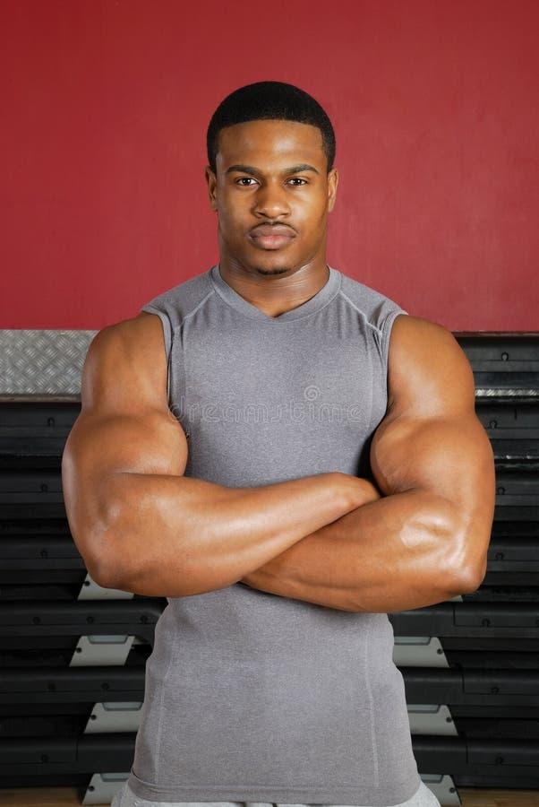 amerykanin afrykańskiego pochodzenia sprawności fizycznej trener zdjęcie stock