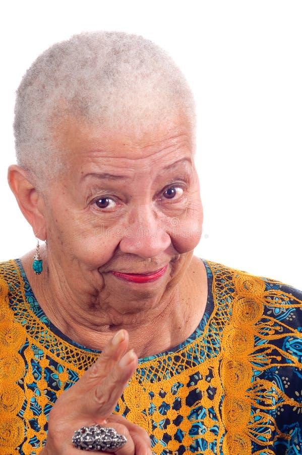 Amerykanin afrykańskiego pochodzenia starsza kobieta obrazy stock