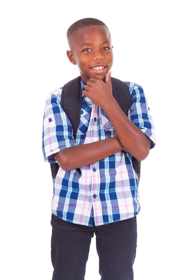 Amerykanin Afrykańskiego Pochodzenia szkolna chłopiec - murzyni obrazy stock