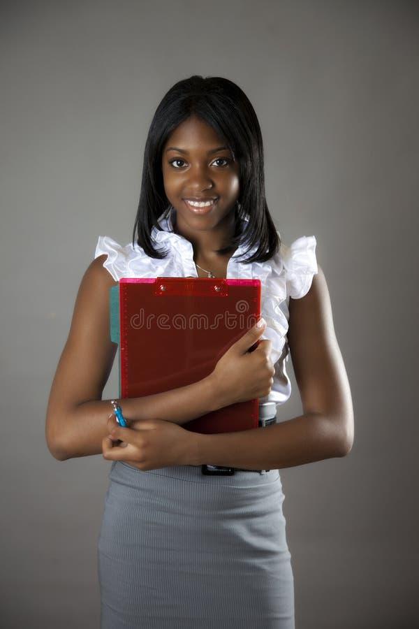 amerykanin afrykańskiego pochodzenia uczeń zdjęcie stock