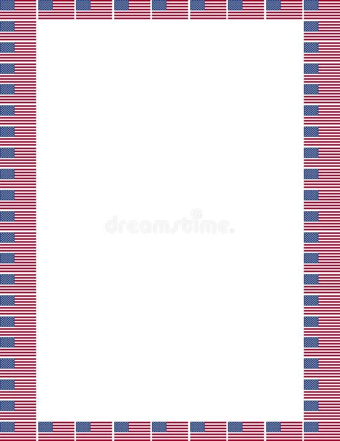 Amerykanin granica ilustracji