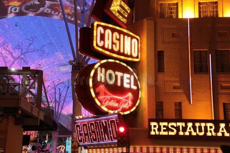 Amerykanin, Nevada, Nigdy Śpi miasta Las Vegas śródmieście, amerykanin zdjęcia stock