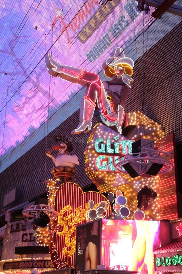 Amerykanin, Nevada, Nigdy Śpi miasta Las Vegas śródmieście, amerykanin zdjęcie royalty free