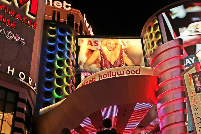 Amerykanin, Nevada, Nigdy Śpi miasto Las Vegas, amerykanin zdjęcie stock