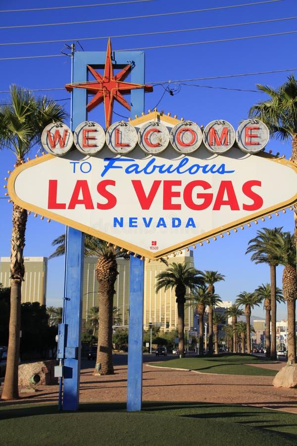 Amerykanin, Nevada, powitanie Nigdy Spać miasto Las Vegas obraz stock