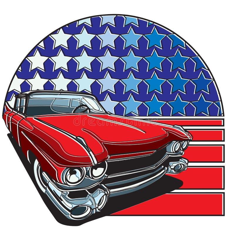 Amerykanin Stylowa odznaka ilustracja wektor