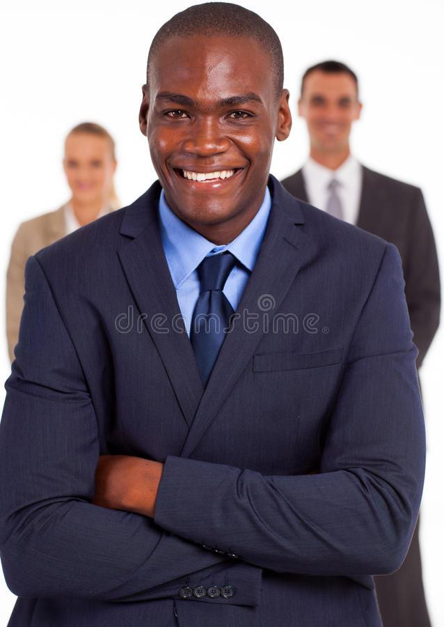 Amerykanina afrykańskiego pochodzenia biznesmen fotografia royalty free