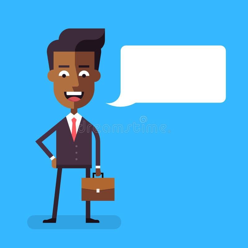 Amerykanina afrykańskiego pochodzenia biznesmen z teczką ilustracji