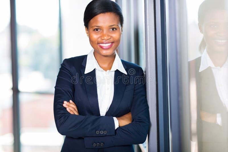 Amerykanina afrykańskiego pochodzenia bizneswoman zdjęcia royalty free
