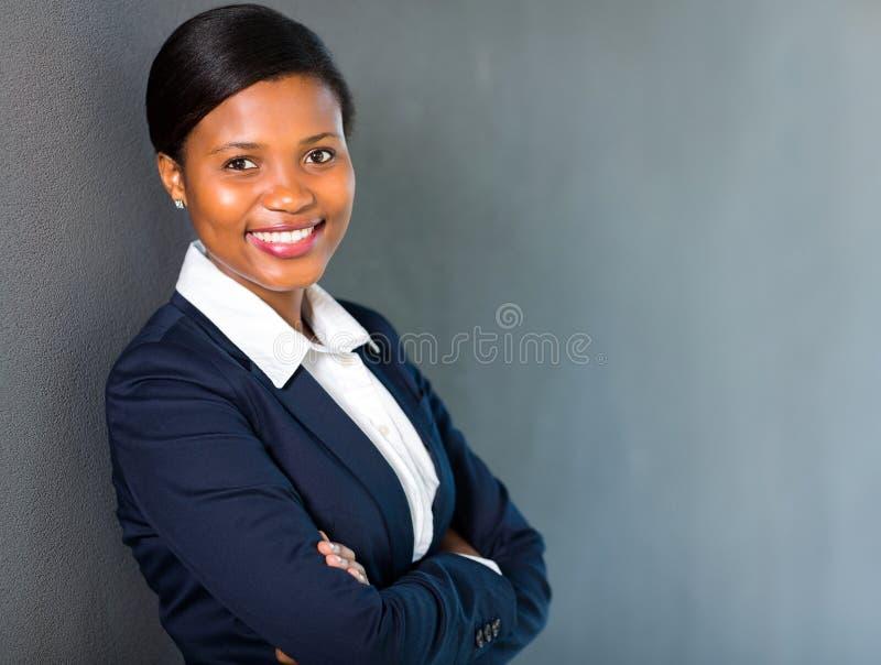 Amerykanina afrykańskiego pochodzenia bizneswoman obrazy royalty free