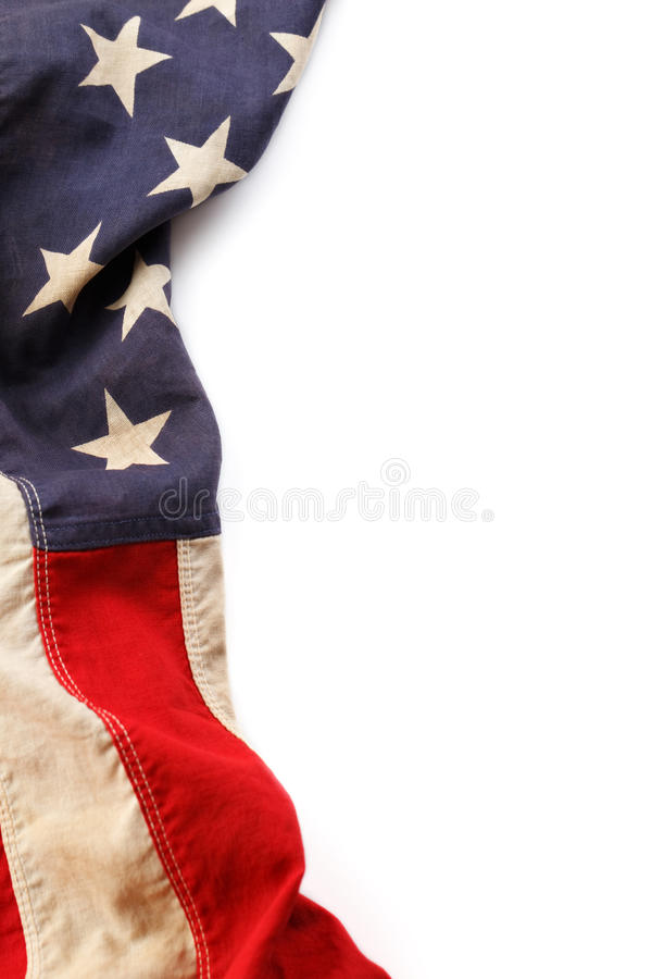 amerykanina granicy flaga fotografia stock