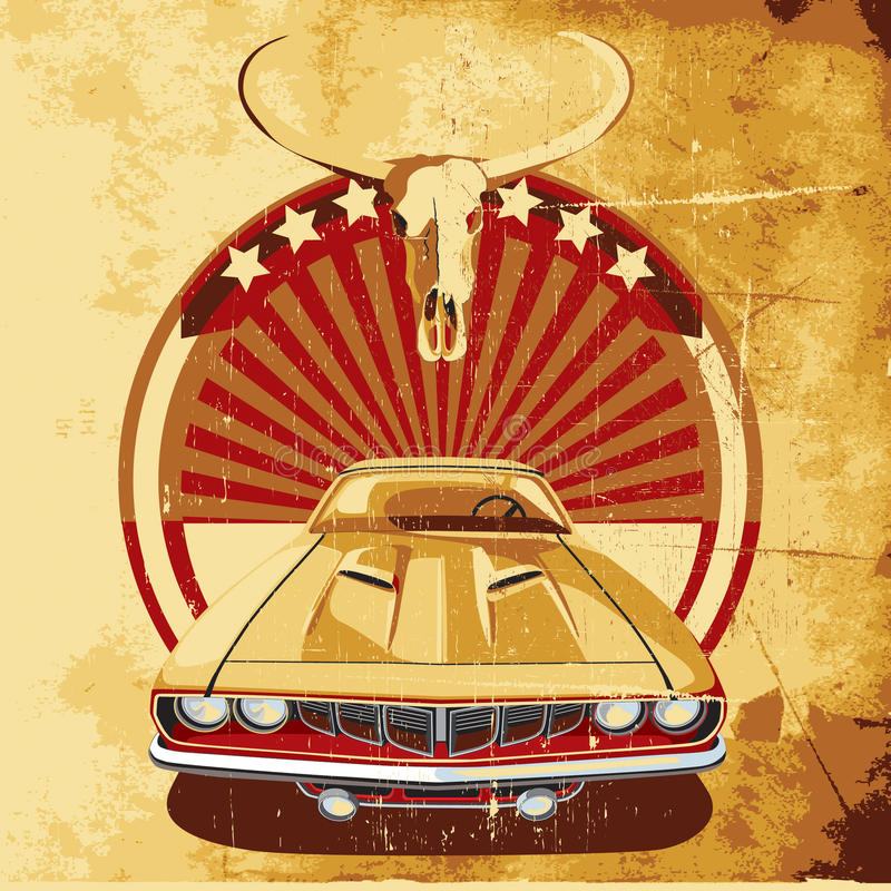 amerykanina ii plakata styl royalty ilustracja