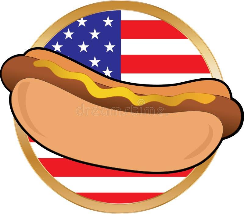 amerykanina psa flaga gorąca royalty ilustracja