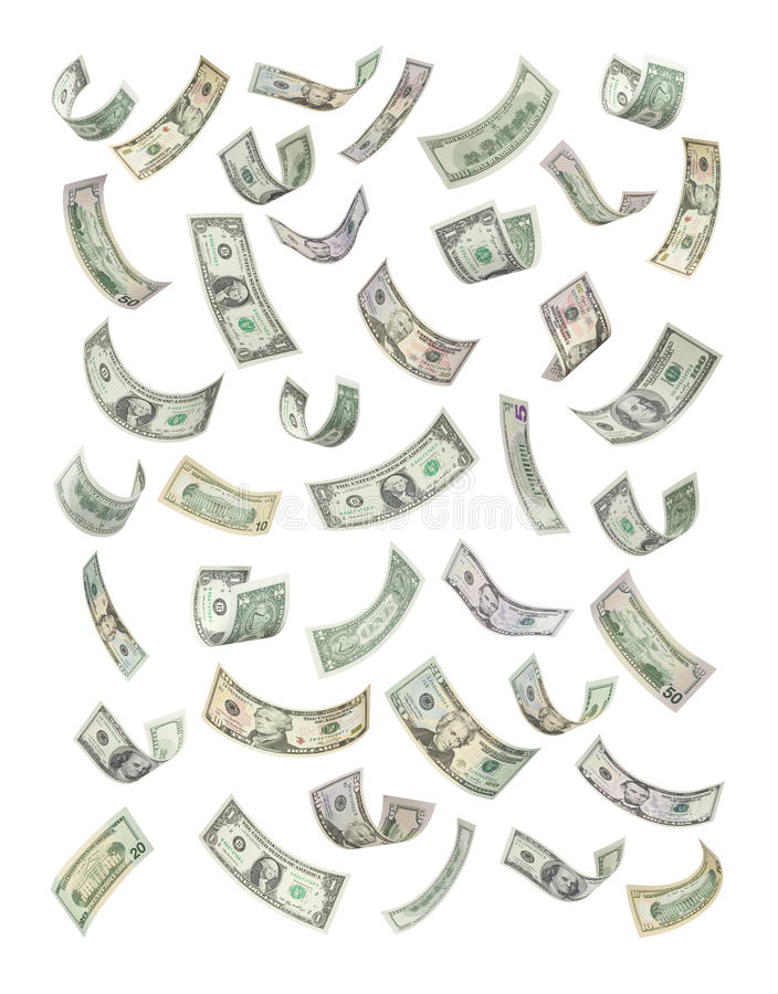 amerykanina spadać pieniądze target2114_0_ ilustracja wektor