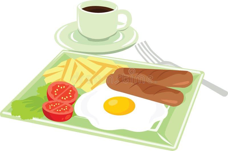 Amerykanina styl Śniadaniowa ikona wektoru ilustracja ilustracji