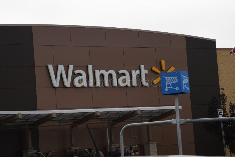 Amerykanina Walmart s?awny sklep w Clarkston Waszyngton usa zdjęcie royalty free