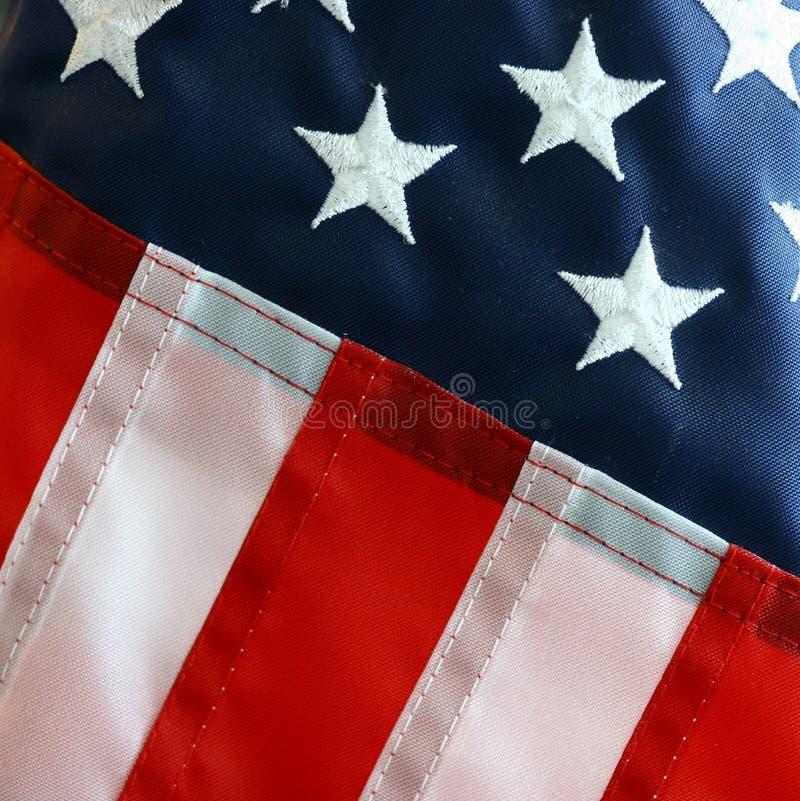 amerykanina zakończenia flaga w górę widok fotografia stock
