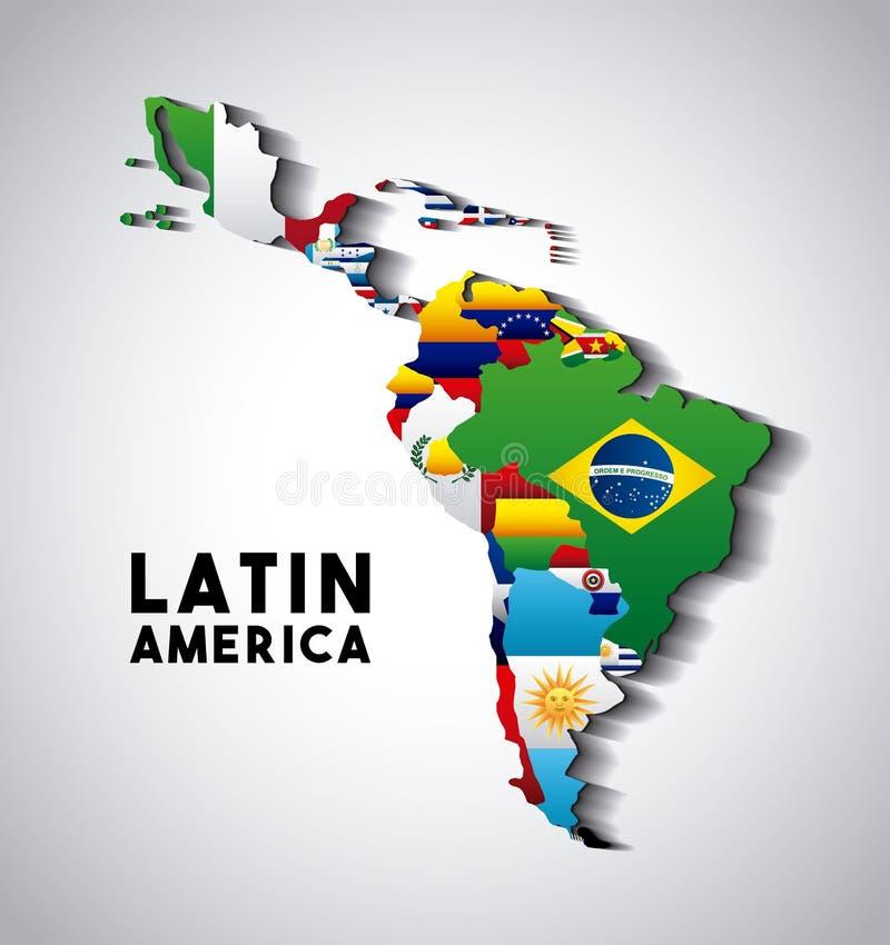 Ameryki Łacińskiej mapa royalty ilustracja