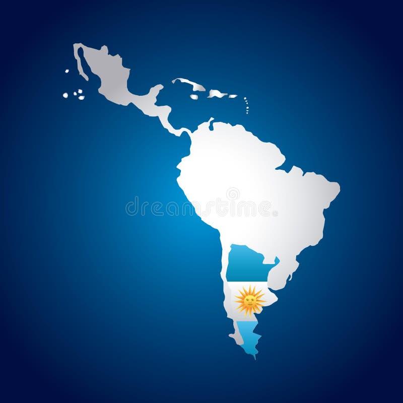 Ameryki Łacińskiej mapa ilustracja wektor