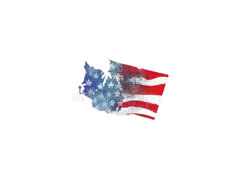 ameryki stany zjednoczone Akwareli tekstura flaga amerykańska royalty ilustracja