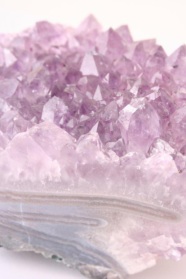 amethyst кристаллический минерал стоковое фото rf