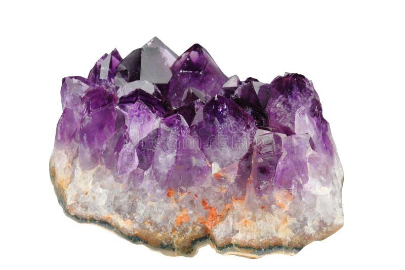 Download Amethyst imagem de stock. Imagem de verge, mineral, sorte - 12805503
