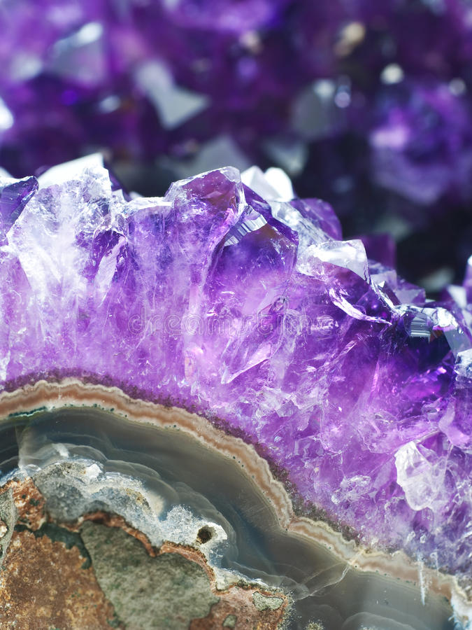 Download Amethyst druse stock photo. Image of crystal, decorative - 13872968