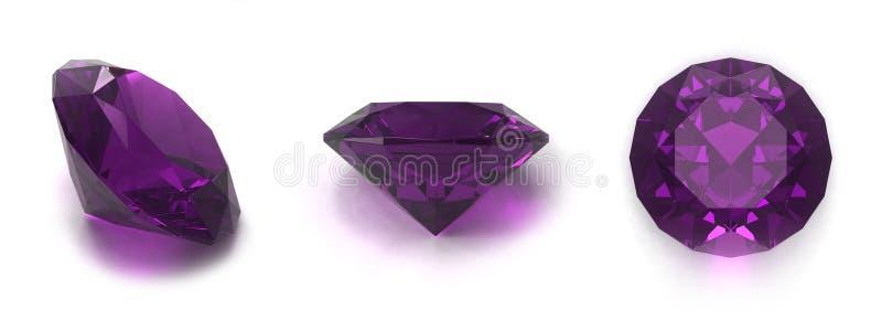 Amethyst gems stock photos