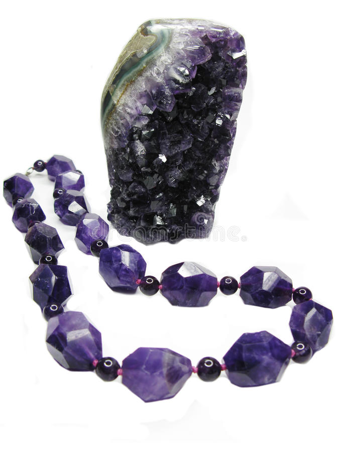 Download Amethyst Geode Crystals And Jewelery Beads Stock Photo - Image: 27673372