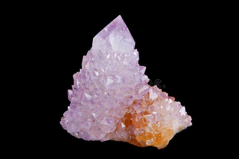 Amethyst Kristall stockfoto