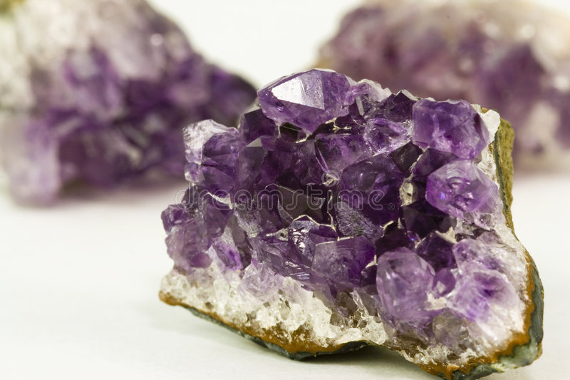 Amethyst Kristall stockbild